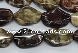 CTW302 15.5 inches 15*20mm wavy oval tiger jasper gemstone beads