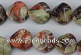 CTW31 15.5 inches 16mm twisted coin rainforest agate beads wholesale