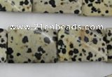 CTW397 15.5 inches 18*25mm twisted rectangle dalmatian jasper beads