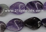 CTW83 15.5 inches 15*20mm twisted oval amethyst gemstone beads