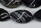 CTW96 15.5 inches 18*30mm twisted oval madagascar agate beads