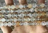 CTZ12 15.5 inches 8mm round natural topaz gemstone beads