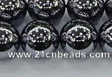 CTZ606 15.5 inches 16mm round terahertz beads wholesale