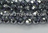 CTZ610 15.5 inches 4mm faceted round terahertz beads wholesale