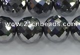 CTZ615 15.5 inches 14mm faceted round terahertz beads wholesale