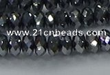 CTZ644 15.5 inches 4*6mm faceted rondelle terahertz beads wholesale