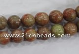 CUG103 15.5 inches 10mm round Chinese unakite beads wholesale