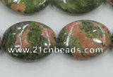CUG62 16 inches 18*25mm oval natural unakite gemstone beads wholesale