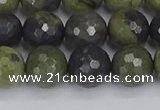 CUJ103 15.5 inches 10mm faceted round African green autumn jasper beads