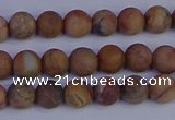 CVJ11 15.5 inches 6mm round matte venus jaspe beads wholesale