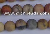CVJ14 15.5 inches 10mm round matte venus jasper beads wholesale