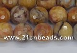 CVJ24 15.5 inches 10mm faceted round venus jasper beads wholesale