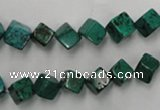CWB760 15.5 inches 6*6mm cube howlite turquoise beads wholesale