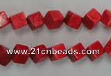 CWB761 15.5 inches 6*6mm cube howlite turquoise beads wholesale