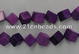 CWB762 15.5 inches 6*6mm cube howlite turquoise beads wholesale