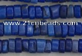 CWB827 15.5 inches 2*4mm tyre howlite turquoise beads wholesale