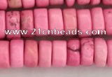 CWB837 15.5 inches 3*6mm tyre howlite turquoise beads wholesale