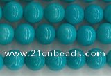 CWB850 15.5 inches 4mm round howlite turquoise beads wholesale