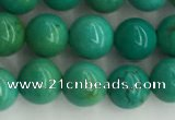 CWB870 15.5 inches 6mm round howlite turquoise beads wholesale