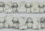 CWB90 15.5 inches 10*15mm double drilled natural white howlite beads