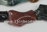 CWG03 15.5 inches 25*33mm wavy freeform Indian agate gemstone beads