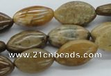 CWJ05 15.5 inches 12*20mm horse eye wood jasper gemstone beads