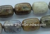 CWJ19 15.5 inches 15*20mm egg-shaped wood jasper gemstone beads