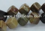 CWJ20 15.5 inches 10*10mm cube wood jasper gemstone beads wholesale