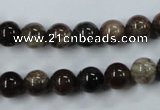 CWJ202 15.5 inches 8mm round wood jasper gemstone beads wholesale
