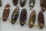 CWJ23 15.5 inches 8*25mm marquise wood jasper gemstone beads