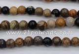 CWJ261 15.5 inches 6mm round wood jasper gemstone beads wholesale