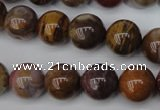 CWJ275 15.5 inches 14mm round wood jasper gemstone beads wholesale