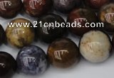CWJ276 15.5 inches 15mm round wood jasper gemstone beads wholesale
