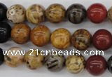CWJ282 15.5 inches 9mm round wood jasper gemstone beads wholesale