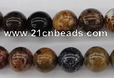 CWJ283 15.5 inches 11mm round wood jasper gemstone beads wholesale