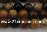 CWJ288 15.5 inches 8mm round wood jasper gemstone beads wholesale