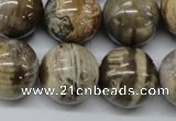 CWJ32 15.5 inches 20mm round wood jasper gemstone beads