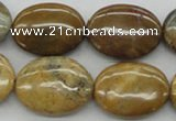 CWJ38 15.5 inches 18*25mm oval wood jasper gemstone beads