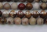 CWJ401 15.5 inches 6mm round wood jasper gemstone beads wholesale