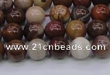 CWJ402 15.5 inches 8mm round wood jasper gemstone beads wholesale