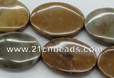 CWJ41 15.5 inches 22*30mm oval wood jasper gemstone beads