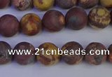 CWJ422 15.5 inches 8mm round matte wood eye jasper beads