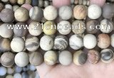 CWJ445 15.5 inches 14mm round matte wood jasper beads wholesale