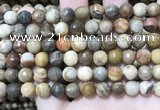 CWJ452 15.5 inches 8mm faceted round wood jasper beads wholesale