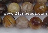 CWJ479 15.5 inches 12mm faceted round wood jasper gemstone beads