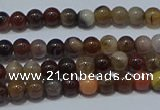CWJ500 15.5 inches 4mm round Xinjiang wood jasper beads wholesale