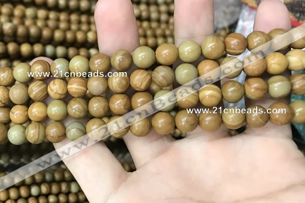 CWJ512 15.5 inches 8mm round wooden jasper beads wholesale