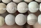 CWJ521 15.5 inches 6mm round matte wooden jasper beads wholesale