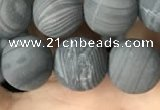 CWJ559 15.5 inches 10mm round matte coffee wood jasper beads wholesale