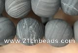 CWJ560 15.5 inches 12mm round matte coffee wood jasper beads wholesale